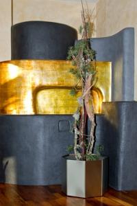 Edelstahl Blumentopf 45cm, H=40cm