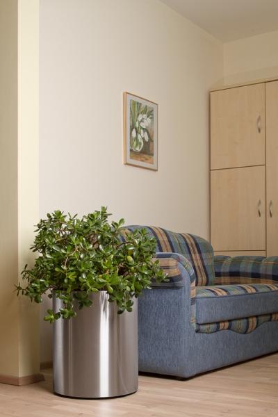 edelstahl blumenk bel 40cm durchmesser 48cm h he. Black Bedroom Furniture Sets. Home Design Ideas