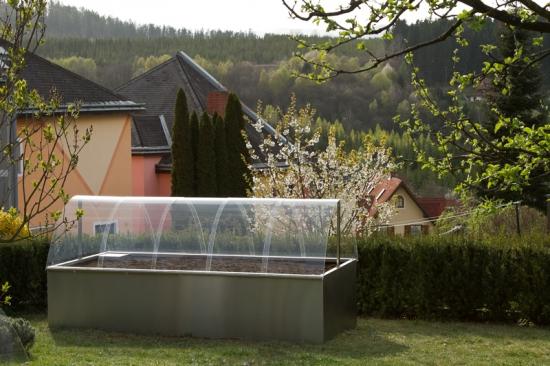 Edelstahl Hochbeet 2,8m x 1,3m x 0,8m