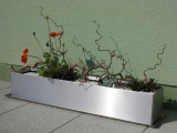 Edelstahl Blumenkasten 21x102cm, H=18cm
