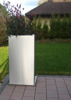 Edelstahl Pflanzgefäß 50x50cm, H=80cm