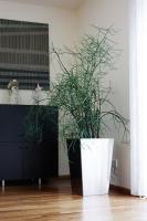 Edelstahl Blumentopf 40-30cm, H=60cm
